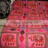 Indian Embroidered Handmade BedSheet