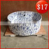 Import china products luxury ceramic blue and white porcelain pattern basin BO-12