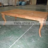 Antique Classic Design Indoor Furniture Solid Slab Dinning Table Solid Wood Coffee Table