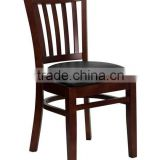 Attractive beech finished vertical slat back wooden restaurant chair                                                                         Quality Choice