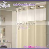 wholesale hookless hotel bath curtain, hookless bath curtain-water proof fabric (180*180cm),