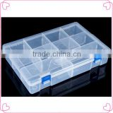 Latest transparent plastic storage/organizer box with lock,nail art tool box                                                                         Quality Choice