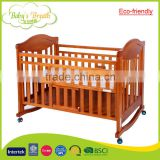 WBC-42B eco-friendly wood baby bed extender new arrival baby crib bed with table                                                                         Quality Choice