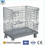 4 Layers Folding Steel Wire Mesh Display Storage Stacking Cage Container,Selling rack cage,storage rack cage container in China