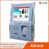 "15"" touch screen Kiosk Cash Acceptor Payment Machine Wall Mounted card Dispenser Kiosk"