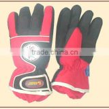 Mens leather sport winter ski glove wih inner glove