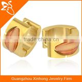 PVD gold fashion hoop earrings Wholesale cheap gold body jewelry
