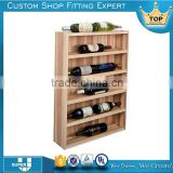 tailor made POS stand pine wood wine display rack for sale                                                                                                         Supplier's Choice