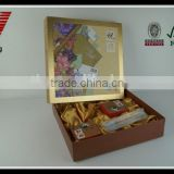 Gold foil stamping gift packaging paper box with lid
