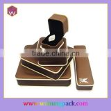 custom logo printed jewelry box, set jewelry box wholesale, single buy accept.