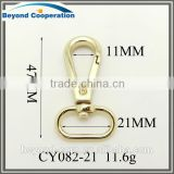 21mm polishing gold plated Lady's snap hook for handbag
