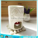 High quality Customized design hotel docorative ceramic oil burners hotel use ceramic aroma burner