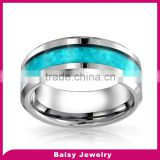 Hot Selling Fashion Wholesale tungsten carbide ring blue