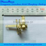 Various types of brass earthing accessories used in power socket and extension outlets