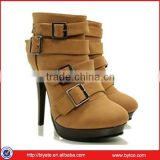 High quality special gun toe classical europe style women casual boots,ankle boot