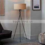 0705-11 create an airy, sculptural base a modern lamp that casts a soothing glow Antique Brass Mid Century Tripod Floor Lamp