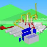CE and ISO Certified Waste Tire Pyrolysis Fuel Oil Plant plastic recycling machine germany