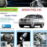 RFID Keyless Entry Push Button Engine Start with Anti-hijacking Car Alarm System for Toyota Prado
