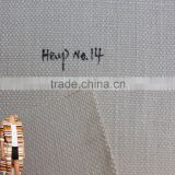 Thick Eco-friendly natural grey organic 100% hemp fabric supplier