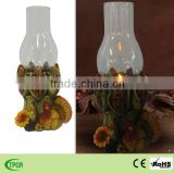 China manufacturer autumn harvest festival decoration polyresin led candle light for home and garden decoration