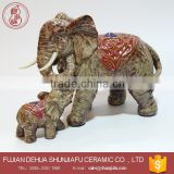 Home Decoration Handcraft Statue Elephant Mother And Son