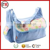 Professional travel foldable portable mummy bag baby bag with bottle holder