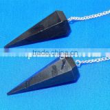Black Tourmaline Facetted Pendulum | Wholesale Gemstone Pendulums