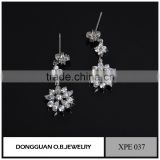 Beautiful sterling silver earring for lady, wholesale bridal jewelry flower earring design