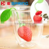Strawberry shaped Silicone Tea Leaf Strainer Ball Stick Loose Herbal Spice Infuser Filter Tool