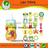 Hot Promotional Gift Toy Baby Rattle 19 PCS in a nipple bottle for kids China supplier with EN71 LV0073779