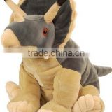 manufactured triceratops plush logo imprinted customized mascot stuffed wild animal toys