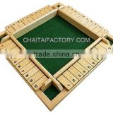 Quality Wood Shut the Box Game for Four Player