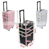 4 in 1 Beauty makeup trolley case - 3 colours(Black/Silver/Pink)