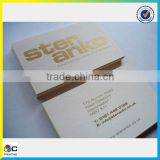 Popular fashion gold foil business cards, Coated Paper business cards