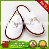 Wholesale Disposable Hotel Slippers New Design Cotton Towel White Slippers