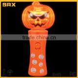 Custom LED Light Up Halloween Pumpkin Wand & Skull Wand,custom Halloween plastic toy