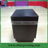 custom unique design jewelry gift box fashion black ring packaging box for sale wholesale wedding decorative box in china