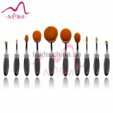 Wholesale makeup sets plastic handle beauty oval cream puff powder brush