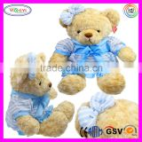 D799 Button Pressed Play and Stop Animal Bear Stuffed Toy Plush Teddy Bear with Recorder
