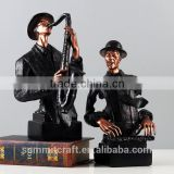 Mordern art decorative resin bust of figurines musicians