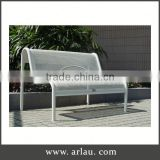 Arlau Wood Bench With Back Metal Legs,Galvanized Steel Outdoor Bench,Cast Iron Park Bench Set