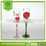 Promotional Wholesale Cheap Top Quality Crystal Wedding Champagne