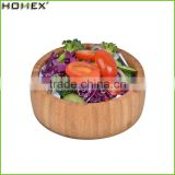 High Quality Round Vegetable Bamboo Bowl/Fruit Salad Bowl/Homex_Factory