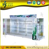 cosmetic product display with acrylic advertising box