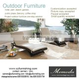 1052 alibaba hot sale outdoor rattan furniture sun beach lounger in Garden Sets or Beache Sets