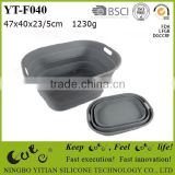 food grade silicone collapsible basin