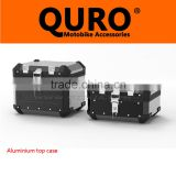 QURO Motorcycle side box 45/33L/31L , Coated black, Aluminum, MOTORCYCLE TRUNK