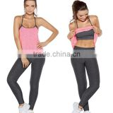 Bulk Wholesale Activewear Clothing 2 Piece Gym Outfit Tights Loose Tank Matching Leggings Summer Canada Ladies Sport Tracksuit
