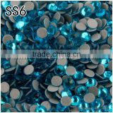 Free Shipping aquamine Color ss6 1.9mm-2.0mm hot sales and best quality HotFix glitters ironon garment clothing crystal
