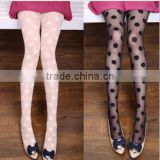 China Supplier Latest Design Wholesale Clothing Dubai Summer Thin Polka Dots Ladies Girls Women pantyhose